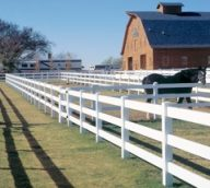 White Picket Farm Fence