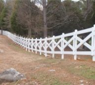 White Cross Split Rail Fence
