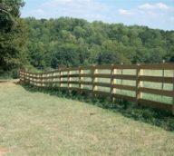 Wood 4 Rail Split Rails Fence