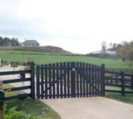Black Farm Fence with Gate