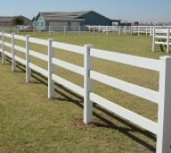 White Vinyl Split Rail Fence