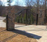 Large Aluminum Driveway Gate