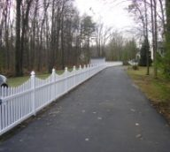 White Picket Fence with Custom Top