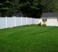 White Privacy Fence Vinyl