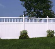 White Vinyl Privacy Fence with Lattice