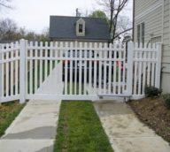 Vinyl Picket Fence Driveway Gate