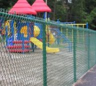 Green Chain Link Playground Fence