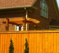 Wood Stained Privacy Fence