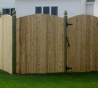 Wood Privacy Fence with Gate