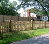 Custom Wood Picket Fence