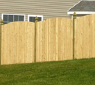 Wood Privacy Fence with Custom Top